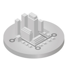 isometric icon of city vector image