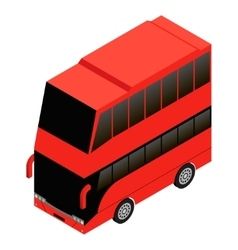 London double decker red icon vector image vector image