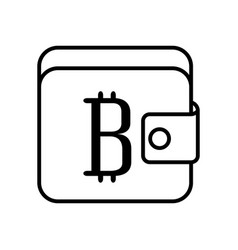 wallet with bitcoin symbol vector image