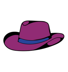 cowboy hat icon icon cartoon vector image vector image
