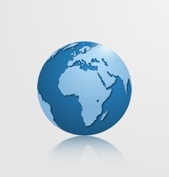 detailed globe with africa and europe vector image