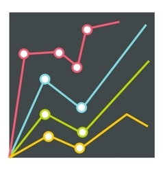 Growth chart infographics flat style vector image