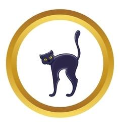 Halloween black cat icon vector image vector image
