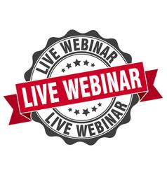 live webinar stamp sign seal vector image vector image