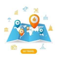 Go Travel Booking Concept vector image vector image