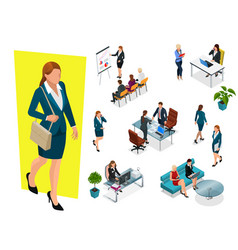 isometric elegant business women in formal clothes vector image vector image