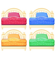Bed set vector image vector image