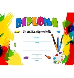 childrens diploma for delivery on a vector image