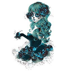 Day of Dead Girl6 vector image vector image