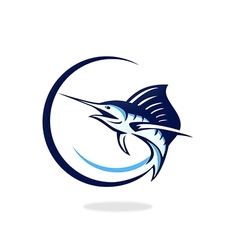 fish tuna fishing logo vector image