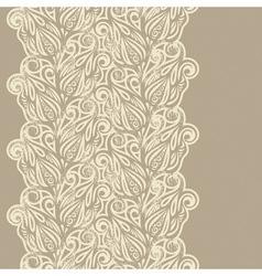 Floral design border in vintage style vector image