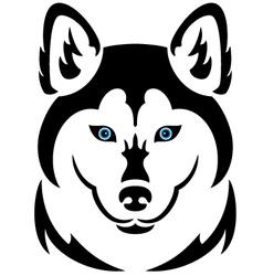 Husky dog tattoo vector image vector image