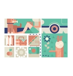 Picnic design flat concept vector image vector image