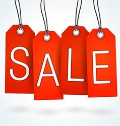 Red Sale Label Set vector image