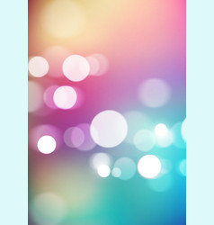 Abstract bokeh lights on colorful background vector
