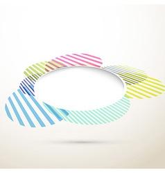 Abstract bright colorful retro design element vector