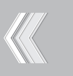 abstract gray arrow vector image