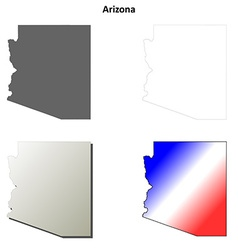 Arizona outline map set vector image