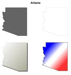 Arizona outline map set vector