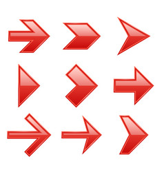 Arrows set arrow icons down direction up pointer vector