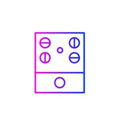 audio controller icon vector image