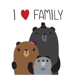 Bear family design vector