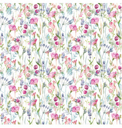Beautiful floral seamless pattern with cute vector