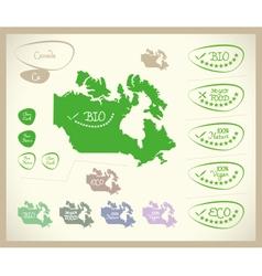 Bio Map CA Canada vector