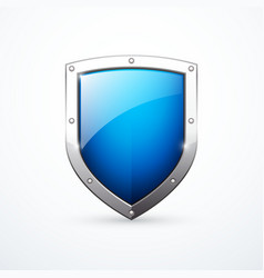 Blue shield icon vector
