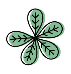 botany leaves to ecology care symbol vector image