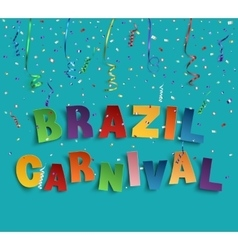 Brazil carnival background vector