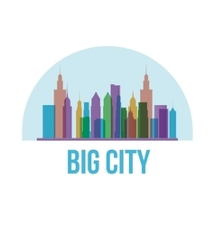 Buildings of big city design vector