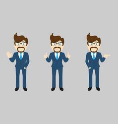 business man set v1b vector image