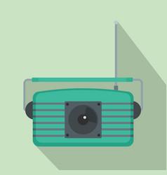 Center fm radio icon flat style vector