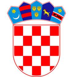 Coat of arms of croatia vector