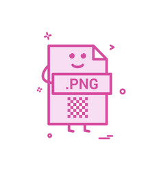 computer png file format type icon design vector image