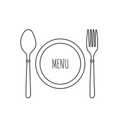 Cutlery knife fork and spoon vector