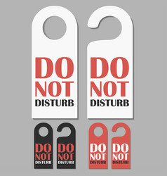 do not disturb signs set vector image