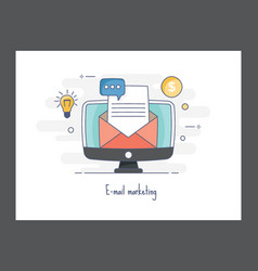 Email marketing icon vector