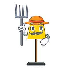 Farmer floor lamp character cartoon vector
