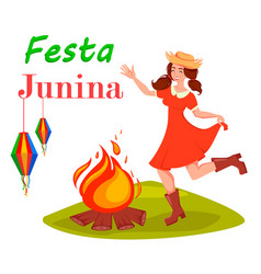 Festa junina greeting card vector
