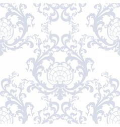 Floral damask baroque ornament pattern vector