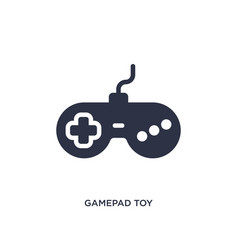Gamepad toy icon on white background simple vector