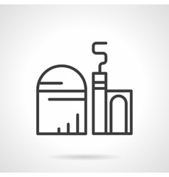 Grain elevator black line icon vector image