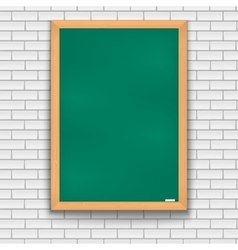 Green school board brick wall vector image