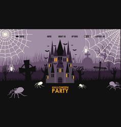 halloween party website design vector image