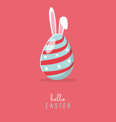 Hello easter with egg easter vector