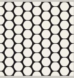 Hexagon seamless geometric pattern vector
