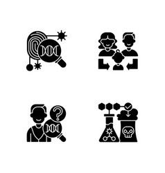 Human reproduction black glyph icons set on white vector