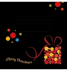 Isolated abstract colorful merry christmas vector